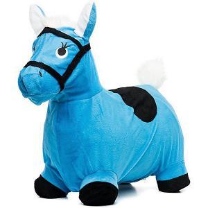 Лошадка-попрыгунчик , голубая Shantou Gepai. Цвет: синий