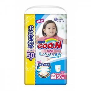 Подгузники-трусики XL (12-20 кг) для девочки 50 шт. GooN
