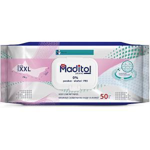 MADITOL Влажные салфетки гигиенические с Д-пантенолом и аллантоином 50шт