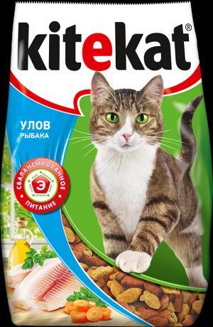 Сухой корм  Улов рыбака для взрослых кошек, рыба, 1.9кг Kitekat