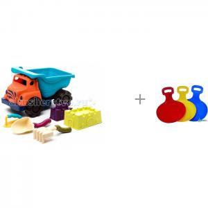 B.Summer Большой самосвал с игрушками для песка и санки-ледянки 031 Нордпласт Battat