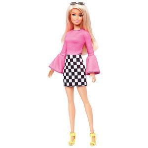 Кукла Barbie Игра с модой в розовой блузке и юбке клетку, 29 см Mattel