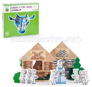 Деревянная игрушка  Конструктор Сказки Волк и семеро козлят Томик