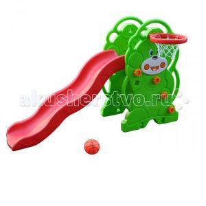 Горка  Мишка с баскетбольным кольцом QiaoQiao