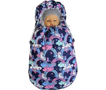 Демисезонный конверт для новорожденного Бемби Единороги Топотушки
