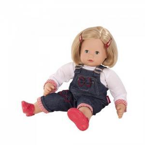 Кукла Макси-маффин блондинка в джинсовом комбине Gotz