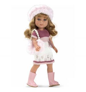Кукла  Elegance в платье, шапочке, ботиночках, с сумочкой Arias