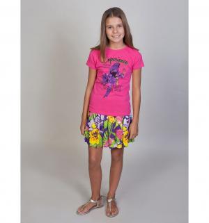 Футболка  Фламинго, цвет: фуксия Luminoso