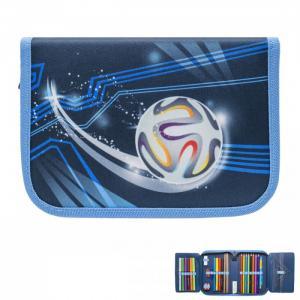 Пенал для мальчиков Prime collection Football evolution с наполнением Tiger Enterprise