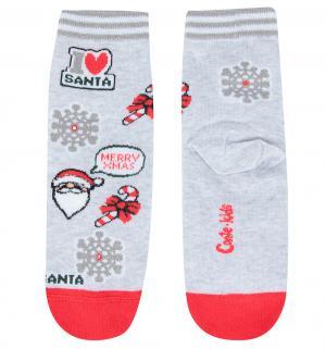 Носки  Санта-Клаус, цвет: серый Conte Kids