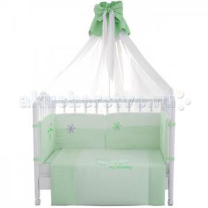 Комплект в кроватку  Белые кудряшки 140х70 (7 предметов) Fairy