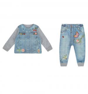 Комплект кофта/брюки  Fashion Jeans, цвет: фиолетовый/голубой Папитто