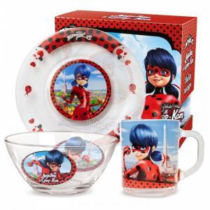 ND Play Набор стеклянной посуды Леди Баг и Супер Кот Париж (3 предмета)