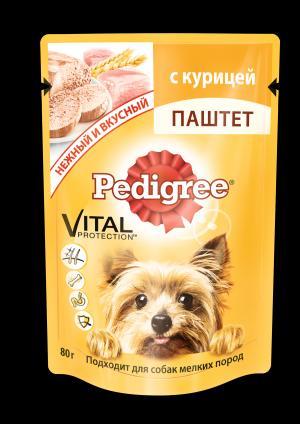 Корм влажный  для взрослых собак, курица, 80г Pedigree