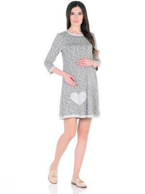 Платье , цвет: молочный/темно-серый 40 Недель