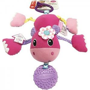 Подвесная игрушка с прорезывателем  Дрожащий бегемотик Infantino