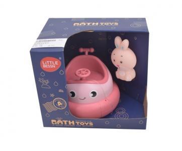Набор игрушек для купания Лодочка-фонтанчик и зайчик Наша Игрушка