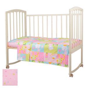 Комплект постельного белья  Веселые котята, цвет: розовый 3 предмета Baby Nice