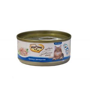 Влажный корм  для взрослых кошек, тунец/анчоусы, 70г Мнямс