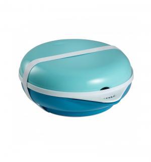 Набор посуды для кормления  С крышкой, цвет: синий Beaba