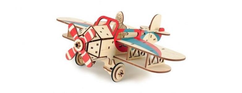 Деревянная игрушка  Самолет Крутой Вираж Woody