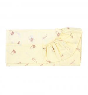 Простыня на резинке 70 х 130 см, цвет: бежевый Зайка Моя