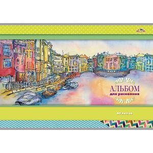 Альбом для рисования Апплика Город на реке, 40 листов