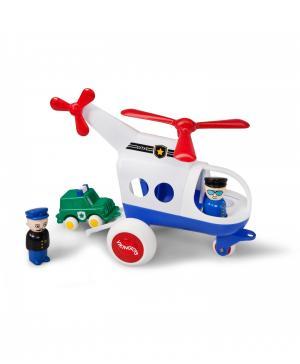 Модель вертолета с двумя фигурками и машинкой Police Vikingtoys