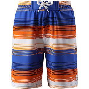 Шорты купальные Biitzi  для мальчика Reima. Цвет: синий/оранжевый