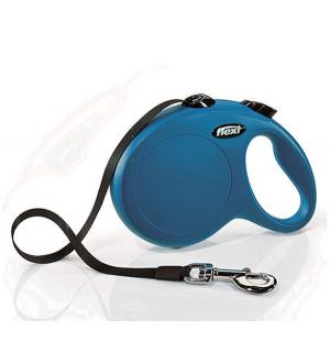 Рулетка ленточная New Classic L (до 50 кг), 5м, цвет: синий Flexi