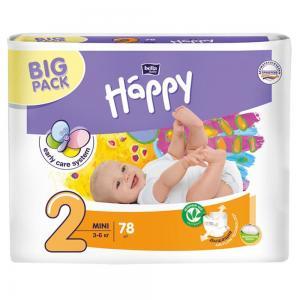 Подгузники  Baby Happy Mini 2 (3-6 кг) 78 шт. Bella