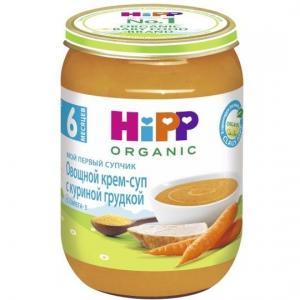 Крем-суп  Organic Мой первый супчик с куриной грудкой, 190 г Hipp