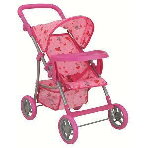Коляска для кукол Buggy Boom, светло-розовая Melobo. Цвет: розовый