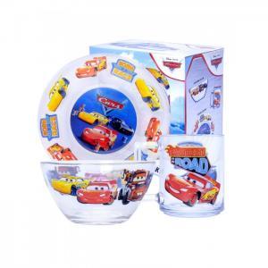 Набор стеклянной посуды Тачки 3 Дисней (3 предмета) ND Play
