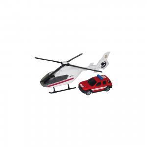 Машинка Air Emerg.Team пожарная c вертолетом, звук,свет 1:48, Autotime