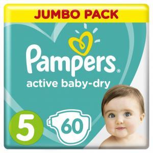 Подгузники Active Baby Dry Junior р.5 (11-16 кг) 60 шт. Pampers