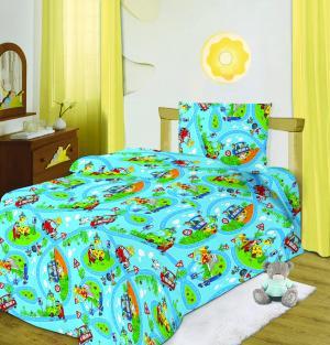 Комплект постельного белья Светофор пододеяльник(215х143см)/наволочка(70х70см)/простыня(214х150см), цвет: микс Кошки-Мышки