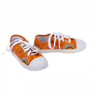 Кеды , цвет: оранжевый Зебра