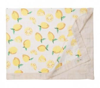 Плед  муслиновый Лен и лимон 122х100 см Сонный гномик