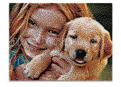 Пиксельная мозаика серии Фото Создай свое Quercetti