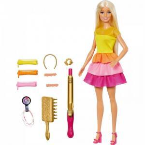 Кукла в модном наряде с аксессуарами для волос Barbie