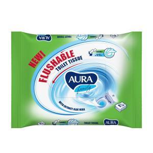Туалетная бумага влажная , 42 шт Aura