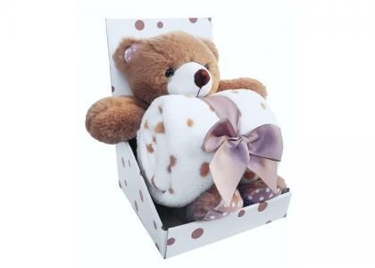 Плед  Набор с игрушкой Bear Uviton