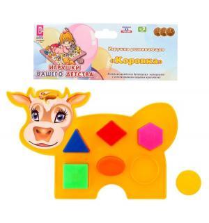 Развивающая игрушка Коровка желтая Аэлита