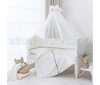 Комплект в кроватку  Le Petit Bebe из сатина (4 предмета) Perina