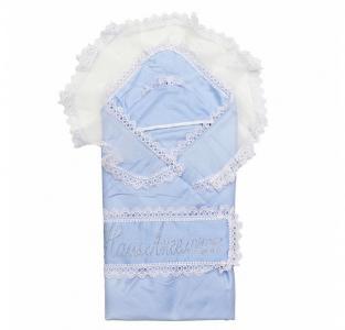 Одеяло с уголком на выписку Ангелочек 2 предмета 02.14 Топотушки