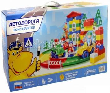Конструктор  Автодорога 119 элементов Затейники