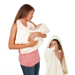 Полотенце фартук ClevaMama Splash N Wrap, цвет кремовый