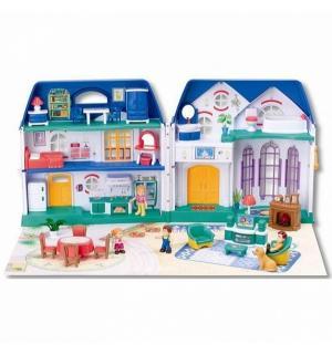 Игровой набор  My Happy Family Дом с предметами, сборный, музыкальный 70 см Keenway