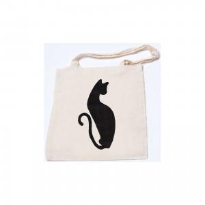 Стигис-аппликация на эко-сумке Черная кошка STIGIS